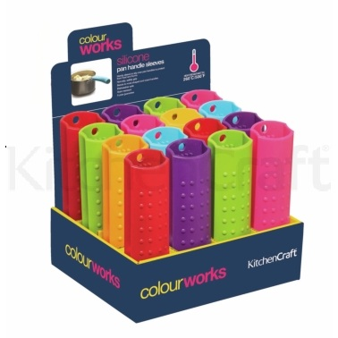Colourworks Display of 16 Silicone Pan Handle Sleeves
