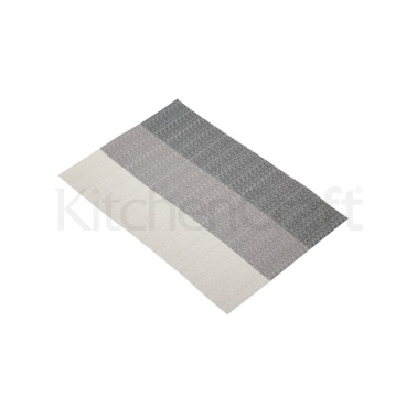 Kitchen Craft Woven Grey Stripes Placemat