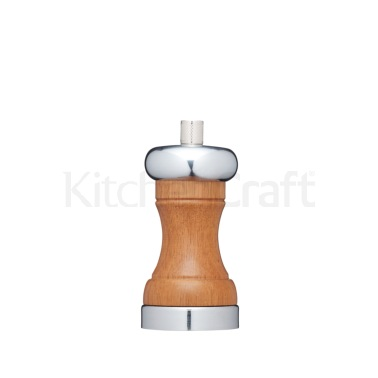 Master Class 12cm Chrome and Acacia Wood Pepper Mill