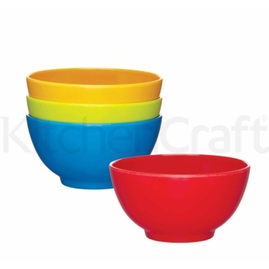 Let's Make Set of 4 Melamine Bowls
