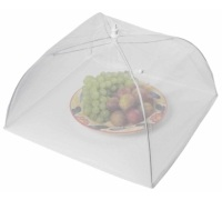 KitchenCraft 51cm White Umbrella Food Cover