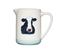 Apple Farm Stoneware Cow Milk Jug