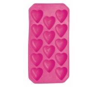 BarCraft Flexible Heart Shape Ice Cube Tray