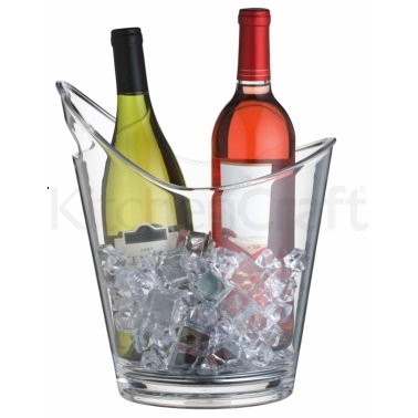 Bar Craft Clear Acrylic Drinks Pail / Wine Cooler
