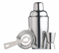 BarCraft Stainless Steel 3 Piece Cocktail Set