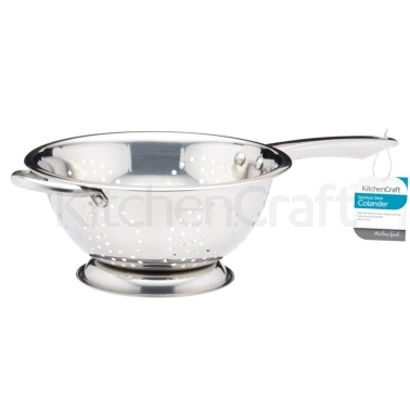 Kitchen Craft Stainless Steel 24cm Long Handled Colander