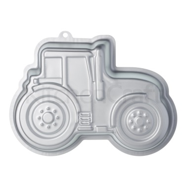 Sweetly Does It Silver Anodised Tractor Shaped Cake Pan