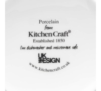 KitchenCraft Fine Porcelain Red Spotty Mug