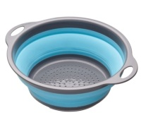 Colourworks Blue Collapsible Colander with Handles