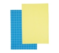 KitchenCraft Set of 2 Tiled Patterned Tea Towels