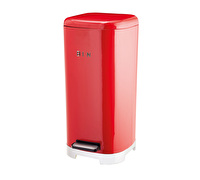 Lovello Soft-Close Scarlet Red Metal Kitchen Pedal Bin