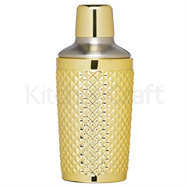 BarCraft Tropical Chic 400ml Studded Boston Cocktail Shaker