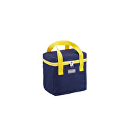 KitchenCraft Lunch Navy and Yellow 5 Litre Cool Bag