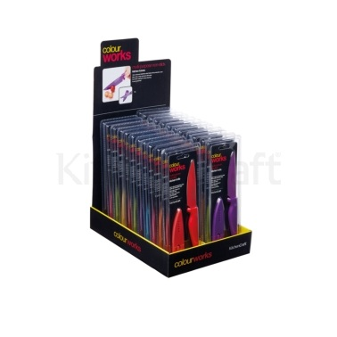 Colourworks Display of 24 Paring Knives with Protective Case