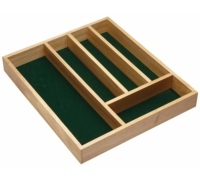 Kitchen Craft Traditional Wooden Cutlery Tray
