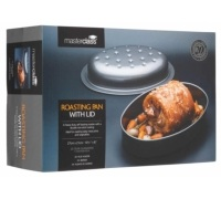 MasterClass Non-Stick Covered Oval Roasting Pan