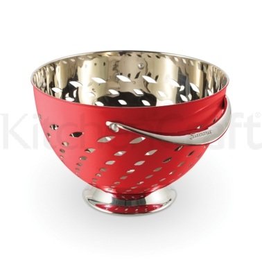 Savora Red Stainless Steel Colander