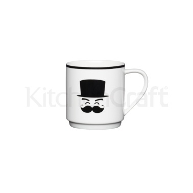 KitchenCraft Bone China Smiling Stacking Mug