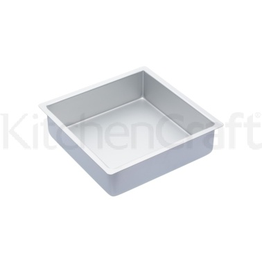 Master Class Silver Anodised 25cm Square Deep Cake Pan