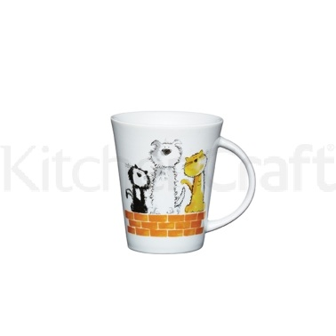 Kitchen Craft Fine Porcelain Cat & Dog Mug