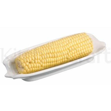 KitchenCraft White Porcelain Corn on the Cob Dish