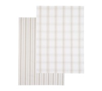 Kitchen Craft Set of 2 Flat Woven Stone Patterned Tea Towels