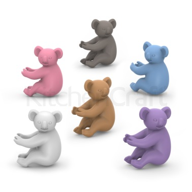 Fred Pack of 6 Social Climbers Koala Wine Markers