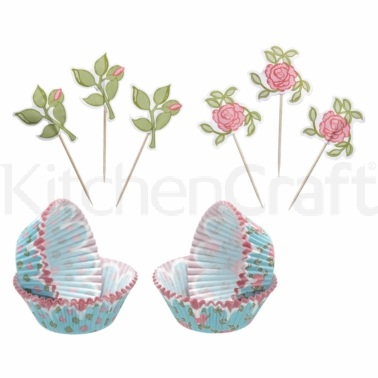 Sweetly Does It Floral Patterned Cupcake Kit