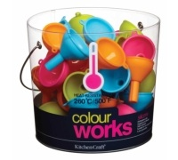 Colourworks Display of 36 Silicone Mini Funnels