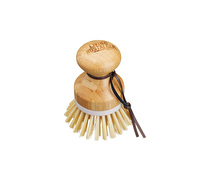 Living Nostalgia Round Long Handled Bamboo Dish Scrub Brush