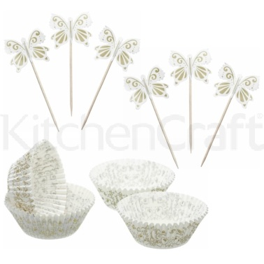 Sweetly Does It Gold Patterned Cupcake Kit