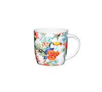 KitchenCraft Set of Four Fine Bone China Toucan Mugs