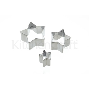 Sweetly Does It Set of 3 Star Fondant Cutters