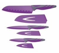 Colourworks 3 Piece Purple Knife Starter Set