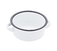 Living Nostalgia Enamel Serving Bowl with Handles
