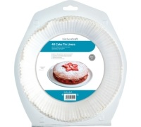 KitchenCraft Pack of Forty 21cm Cake Tin Liners