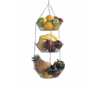 Kitchen Craft Three Tier Hanging Vegetable / Fruit Basket