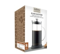 Le'Xpress Eight Cup Glass Cafetiere