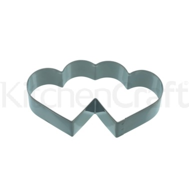 KitchenCraft 11.5cm Double Heart Shaped Cookie Cutter