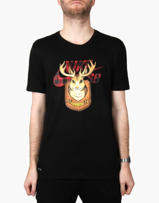 Nike SB Jackalope Icon T-Shirt - Black/Gym Red/Black