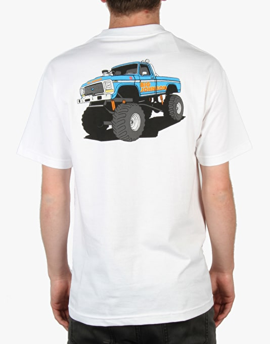 Chocolate Monster Truck T-Shirt (Johnson) - White