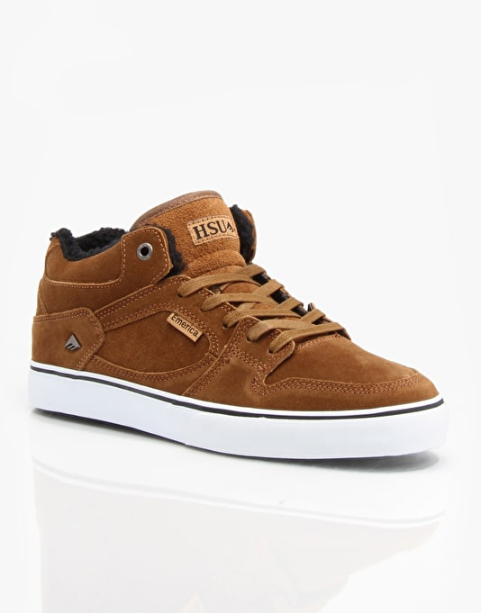 Emerica The Hsu Smu Skate Shoes - Brown/White/Brown