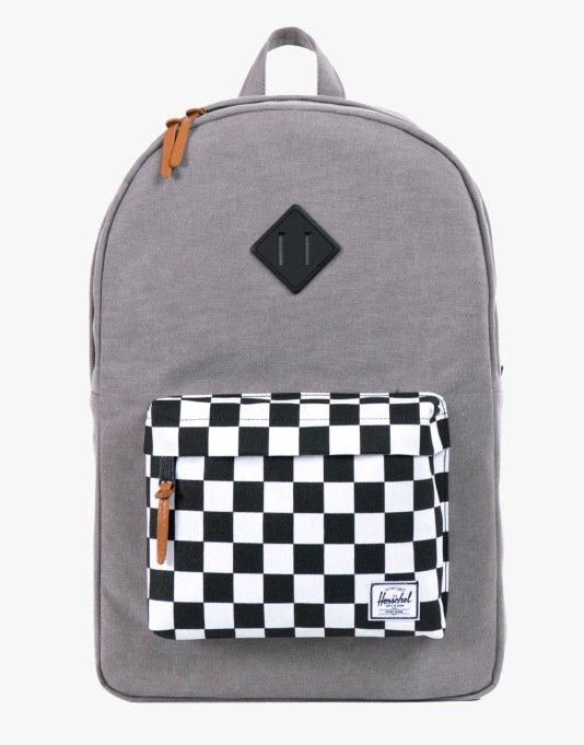 Herschel Supply Co. Heritage Backpack - Washed Black/Checkerboard