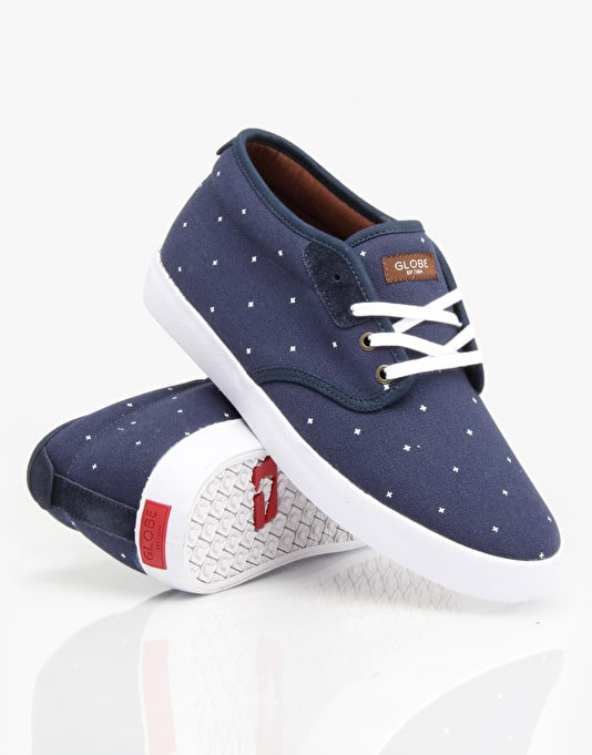 Globe Cardinal Skate Shoes - Navy Plus