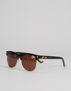 Glassy Sunhater Shredder Sunglasses -  Coffee/Tortoise