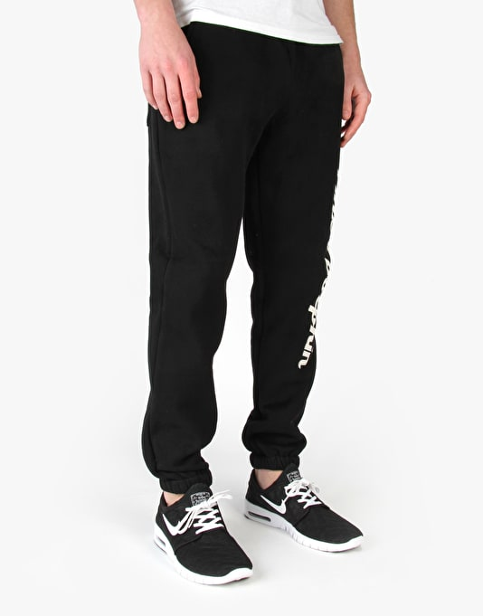 Pink Dolphin Script Sweatpants - Black