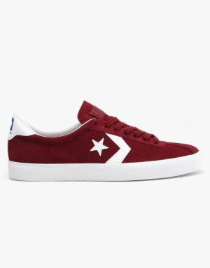 Converse Cons Breakpoint Suede Skate Shoes - Deep Bordeaux/White/White
