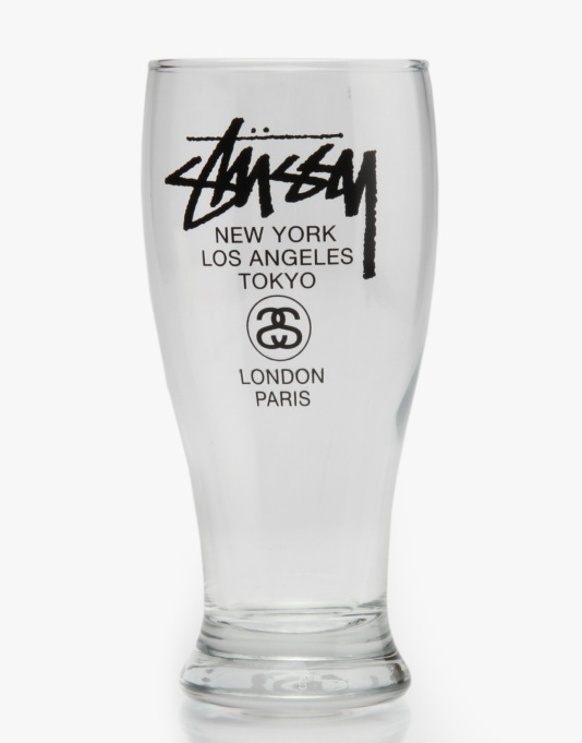 Stüssy World Tour Pint Glass - Clear