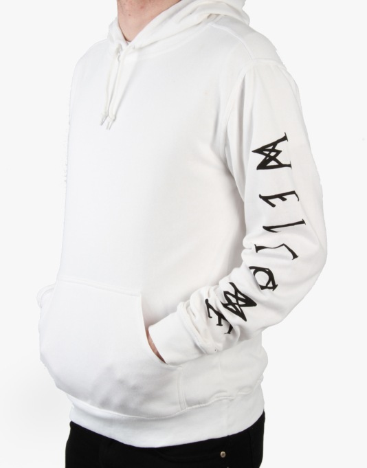 Welcome Scrawl Lightweight Pullover Hoodie - White/Black