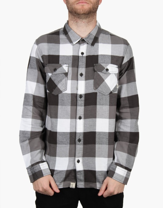 Vans Box Flannel Shirt - Pirate Black/Graphite